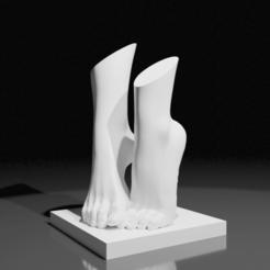 PiedsNus03.png Télécharger fichier STL Les Pieds nus • Objet à imprimer en 3D, The-Inner-Way