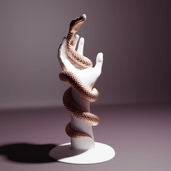 SnakeHand01.png Download 3MF file Jewelry Holder : Snake Hand  • Object to 3D print, The-Inner-Way