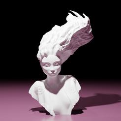 Télécharger plan imprimante 3D Sculpture : La Fille Flamme, The-Inner-Way