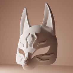 foxmaskjapan01.png Download STL file Kitsune Japan Mask  • 3D printer model, The-Inner-Way