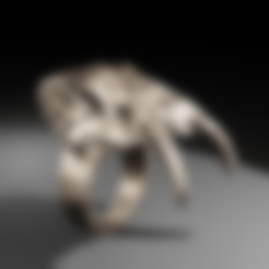 Fichier impression 3D Bague: Dent de Sabre , The-Inner-Way
