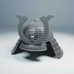 Japan Helmet 01.png Télécharger fichier STL Casque de samouraï japonais • Plan imprimable en 3D, The-Inner-Way