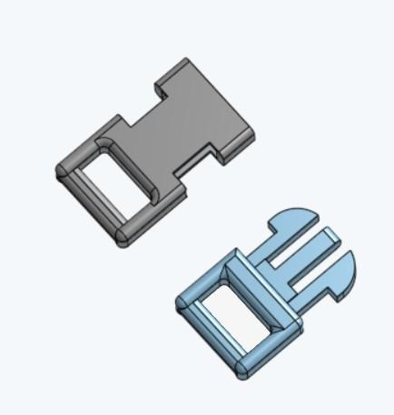 petits clips.jpg Download free STL file Clip (small) for paracord bracelet • 3D printable model, lejardin
