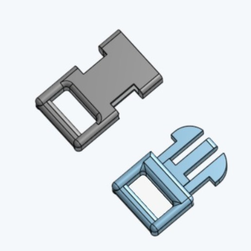 Download free 3D printer designs Clip (small) for paracord bracelet, lejardin