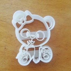 Download 3D printer designs panda bear cookie cutter, abcdefgera