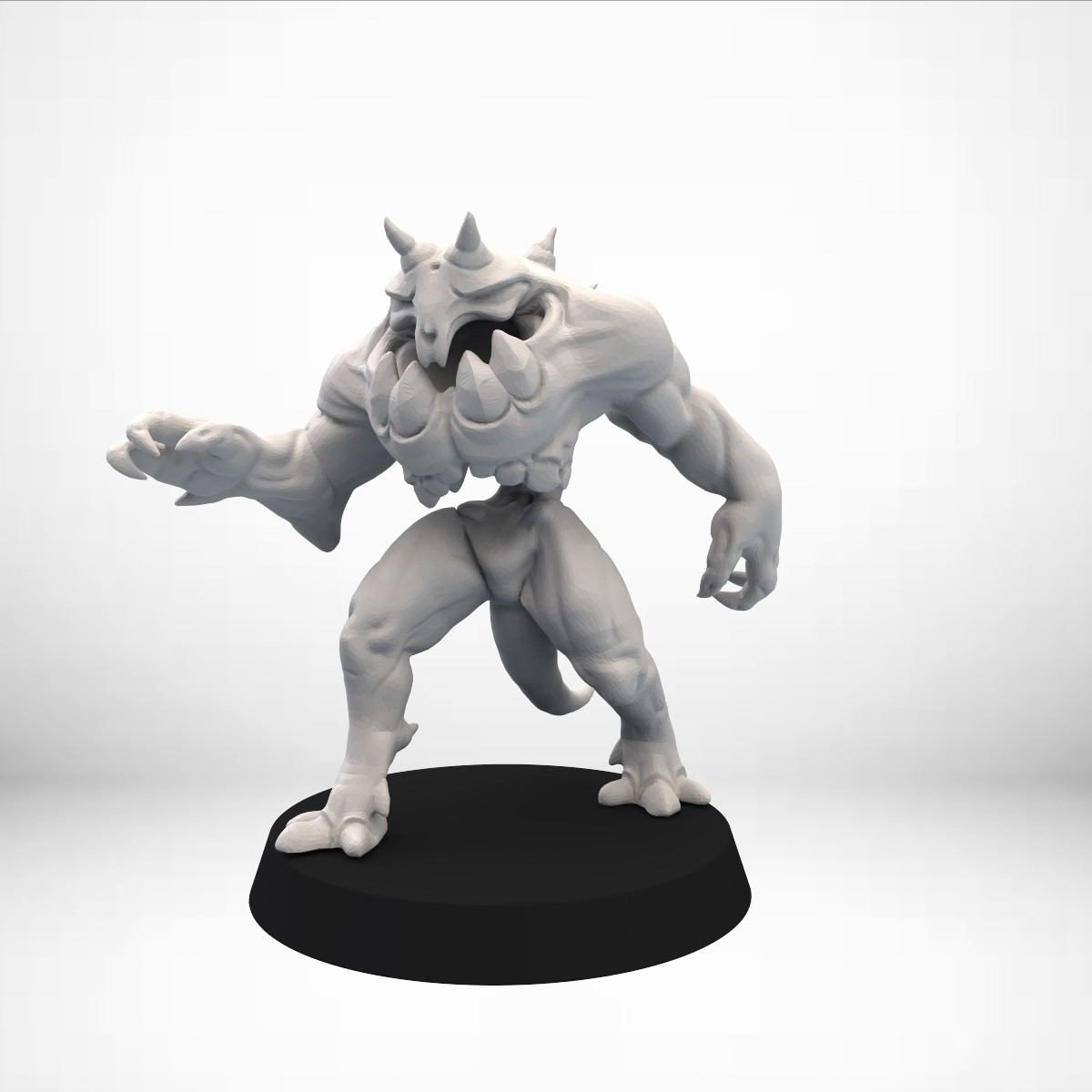Keyshot_002.30.jpg Download free OBJ file D&D Golem miniature - pose 1 • 3D printer model, SimonAublet