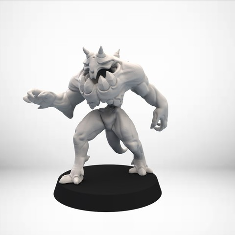 Free STL file D&D Golem miniature - pose 1, SimonAublet