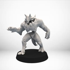 Download free STL files D&D Golem miniature - pose 1, SimonAublet