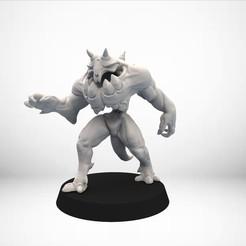 Télécharger objet 3D gratuit D&D Golem miniature - pose 1, SimonAublet