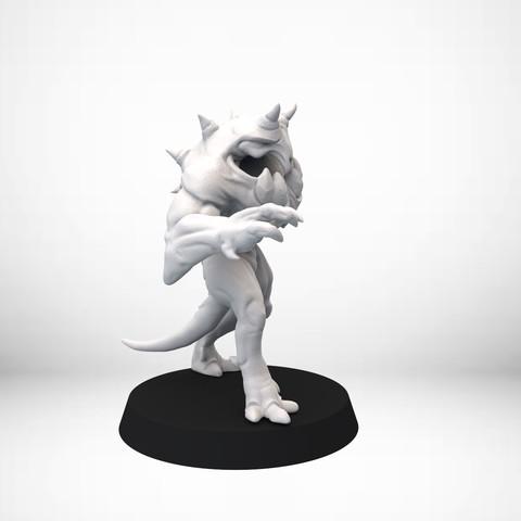 Keyshot_002.27.jpg Download free OBJ file D&D Golem miniature - pose 1 • 3D printer model, SimonAublet