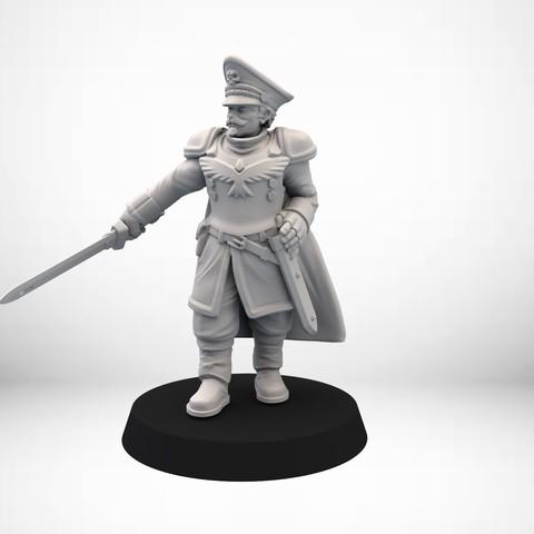 Télécharger plan imprimante 3D gatuit Human Guard Captain, SimonAublet