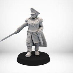 Free 3D printer files Human Guard Captain, SimonAublet