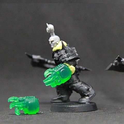 Télécharger plan imprimante 3D gatuit Ork warboss hand (suitable for Space Marines), SimonAublet