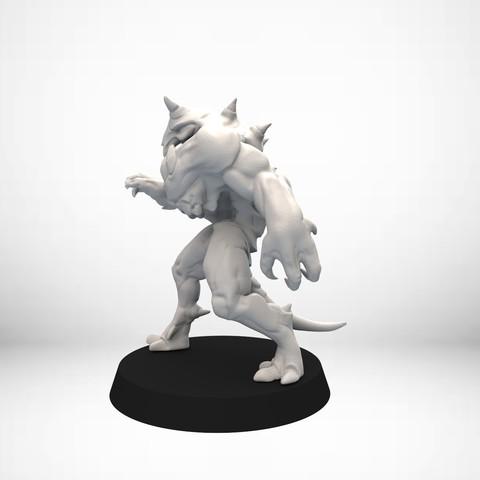 Keyshot_002.29.jpg Download free OBJ file D&D Golem miniature - pose 1 • 3D printer model, SimonAublet