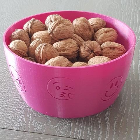 Free 3D print files emotional fruit bowl, patfolle
