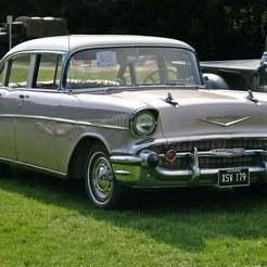 Chevrolet_Bel_Air_1957_4door_Sedan_front.jpg Télécharger fichier STL gratuit Chevrolet Bel Air Sedan (1957) • Objet pour imprimante 3D, Louisdioramas