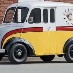 ca0810-96554_32x.jpg Télécharger fichier STL gratuit Camion laitier Divco 206 1953 • Modèle pour impression 3D, Louisdioramas
