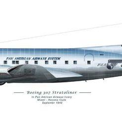1133bcd816214253cbf0458e39c93141.jpg Télécharger fichier OBJ gratuit Boeing 307 Stratocruiser 1938 • Objet pour imprimante 3D, Louisdioramas
