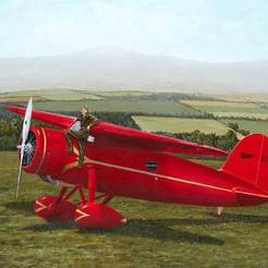 Ameilias-Wheels-1.jpg Download free STL file Lockheed Vega 1932 (Amelia Earhart) (1/72) • 3D printing template, Louisdioramas