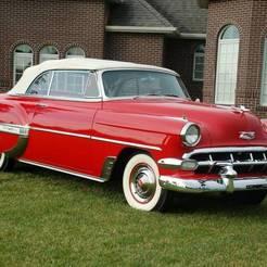 1.jpg Télécharger fichier STL gratuit Chevrolet Bel Air Sedan 1954 (HO-1/87) • Objet pour imprimante 3D, Louisdioramas