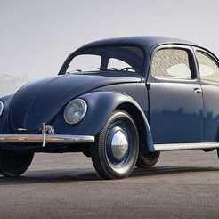 1949_Beetle-Large-10600-scaled.jpg Télécharger fichier STL gratuit KDF Wagen 1938/VW Beetle Split Window (1948-1953) • Modèle à imprimer en 3D, Louisdioramas