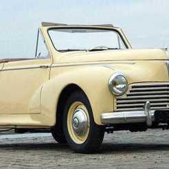 peugeot-203-cabriolet.jpg Télécharger fichier STL gratuit Peugeot 203 Cabriolet 1952 • Design pour impression 3D, Louisdioramas