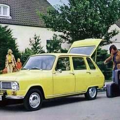 R6-09.jpg Download free STL file Renault 6 1970 • 3D printable object, Louisdioramas