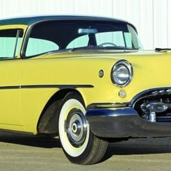 621548.jpg Download free STL file Oldsmobile Super 88 2 Door Sedan 1955 • 3D printing model, Louisdioramas