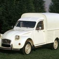 Download free 3D printing designs Citroën 2cv AK400 (square headlights) 1975, Louisdioramas