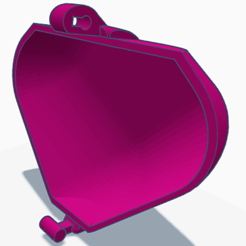 3D print model P6 Plain customizable front piece ONLY , HeartON