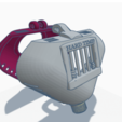 3D print files P6 HARD TIME Full Coverage Male Chastity Device. front and back, HeartON