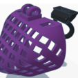 3D print model P7 Full Coverage Male Chastity CAGED FRONT only, HeartON