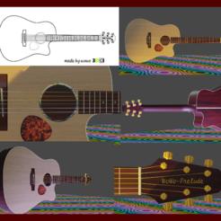 Plan imprimante 3D Guitare acoustique, wowo