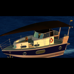 Fichier imprimante 3D Yacht, wowo