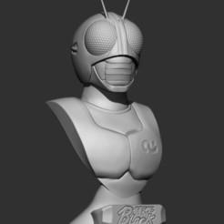Descargar archivo 3D Kamen Rider Black Bust V2, mfcmendes1