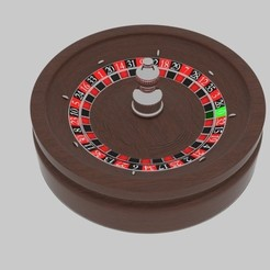 Download 3D printing templates Roulette Spin , banism24