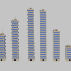 Download STL files  Toon Skyscrapers Pack 2 , banism24