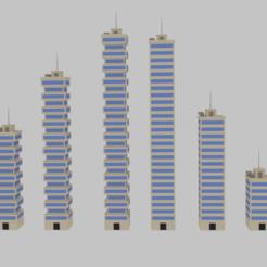 Télécharger modèle 3D Toon Skyscrapers Pack 2, banism24