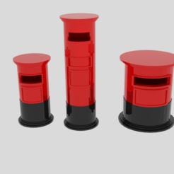 Download 3D printer model  Cylinder Post Box Pack , banism24