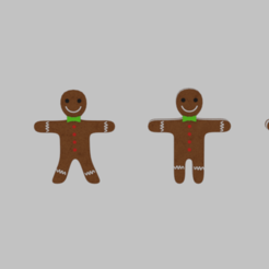 Download 3D printer designs Gingerbread Cookie Pack, banism24