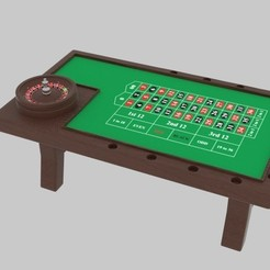 Download 3D printing models  Roulette Table , banism24
