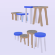 Download 3D print files  Low Poly Stool Pack , banism24
