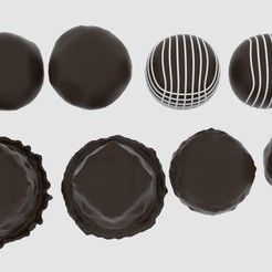 Download 3D printing designs  Round Chocolate Pack , banism24