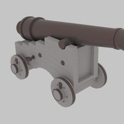 Download 3D printing models Pirate Cannon , banism24