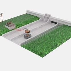Download 3D printing models Hydro Power Plant, banism24