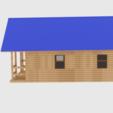Télécharger objet 3D Cabane en bois rond, banism24