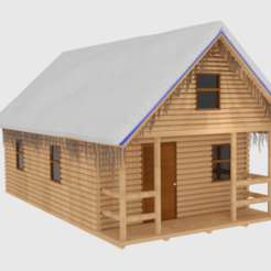 Download 3D printer model  Winter Log Cabin , banism24
