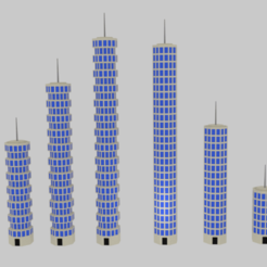 Download 3D printer model  Toon Skyscrapers Pack 1 , banism24