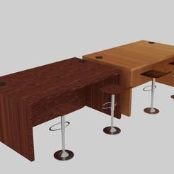 Download 3D printing models  Desk Holeside Set , banism24
