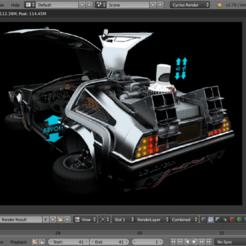 Descargar modelos 3D Delorean, xmc007